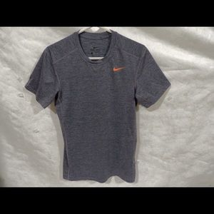 Nike Orange Logo Gray T-shirt Size: Small